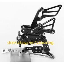 CNC Rear Sets Foot Pegs For Honda CBR1000RR 2008-2013 2009 2010 2011 2012 Black
