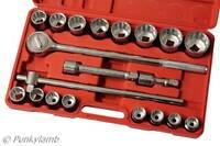 "3/4"" Drive Jumbo Socket Wrench Ratchet Set Metric 19-50mm  Garage Workshop Tool"