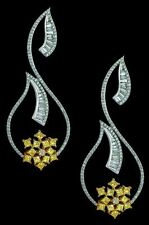 4 ct Dangle Earrings Cocktail 925 Sterling Silver Party Jewelry Yellow White