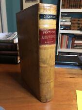 Kentucky Jurisprudence By Lewis N. Dembitz, 1890; Kentucky Law, Leather
