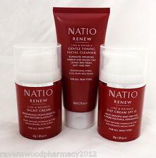 Natio Renew Line & Wrinkle SMALL SET - Cleanser/Toner + Day Cream + Night Cream