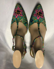 Vtg Herbert Levine Joseph Magnin Leon Unatin Floral 50s Heel Shoe Size?