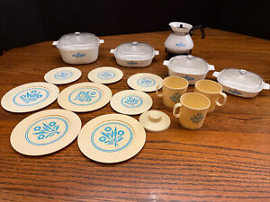 Vintage Chilton Toy Corning Ware Cornflower Blue Set Lot