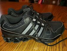 Mens Size 7 Adidas Bounce Running Training Gym Shoes Black Silver EUC