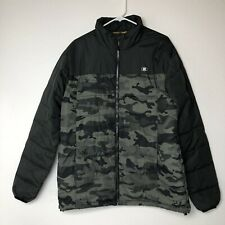 Billabong Mens Puffy Camo Snow/Ski Jacket Size Large Green Yellow Winter Nice