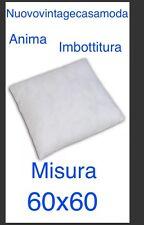 Anima Imbottitura Per cuscino ; Misura 60x60 :  Color Bianco Prezzo Stock ; 3,€
