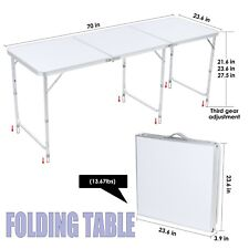 6 FT Folding Table Portable Outdoor Picnic Desk Plastic Camping Dining Party