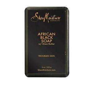 Shea Moisture African Black Soap with Shea Butter 8oz/230g *New & Original*