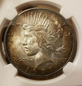 RARE 1921 PEACE SILVER DOLLAR HIGH RELIEF NGC MS63 WONDERFUL TONING!