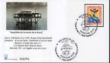Isola delle Rose busta FDC 26/07/2014 Mostra Berceto francobollo riprodotto