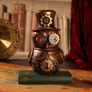 Hootle 22.7cm Steampunk Owl with Top Hat Figurine Nemesis Now D5413T1