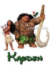 Moana Maui Pua New Custom Personalized t shirt Birthday party Add Name & size
