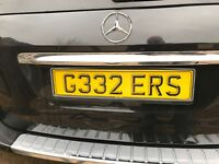 cherished number plate GEEZERS  (G332ERS)