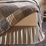 FARMHOUSE COUNTRY PRIMITIVE SAWYER MILL QUEEN BED SKIRT DUST RUFFLE VHC BRANDS