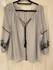 Marks And Spencer Embroidered Blouse Size 22