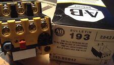 NEW AB Allen Bradley 193-BSB-42 Overload Relay 2.8-4.2 Amp, ASM PN: 44-105224A83
