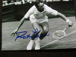 ROD LAVER Authentic Hand Signed Autograph 4X6 Photo - TENNIS LEGEND