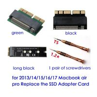 NGFF M.2 PCIe NVMe SSD to 2013/14/15/16/17 Macbook 12+16 Pin SSD Adapter Card