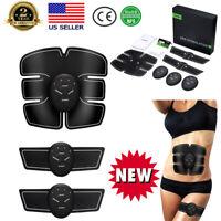 Full Body EMS Abdominal Muscle Trainer Stimulator Fitness Training Gear Belt Set