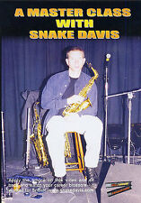 Snake Davis Sax Saxophone DVD Learn To Play Lesson M PEOPLE Tone Practice TUTOR