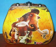 """Cofanetto di latta Kinder """" l'era glaciale 3"""" - 2009"""
