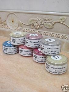 7 bottles THK 20 Gram Diamond polishing lapping paste pastes compound 0.25 - 5