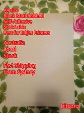 40 NEW A4 blank Matt White self adhesive Sticker Label Inkjet printer Paper