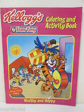 KELLOGGS CEREAL TEAM TONY COLORING & ACTIVITY BOOK HEALTHY AND HAPPY 2002
