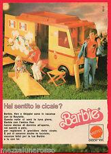 Pubblicità Advertising MATTEL 1976 BARBIE KEN e SKIPPER Camper