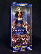 DRESS BARBIE DOLL PRINCESS OF THE INCAS ROYAL BLUE TAFFETA  DECORATED BORDER
