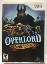 Overlord Dark Legend for Nintendo Wii by Codemasters NTSC Complete CIB Over Lord