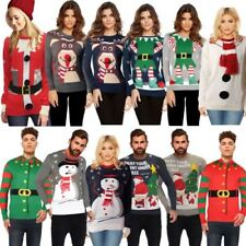 Mens Ladies Unisex Christmas Jumper Xmas Knitwear Sweater Naughty List Bnwt