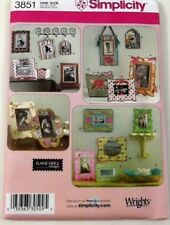 Simplicity 3851 Fabric Frames Containers Craft Sewing Pattern Uncut