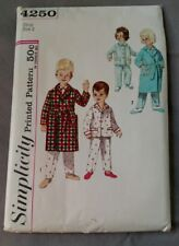 Vintage Children's Size 6 Robe and pajamas 4250 Simplicity sewing pattern cut