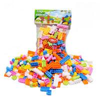 144pcs Plastik Bausteine Ziegel Kinder Kinder Pädagogische Puzzle Spielzeug