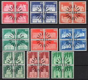 Suiza, año 1968, serie completo en bloque de cuatro, usado, Michel-Euro 8,00 (87