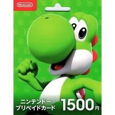 Japan Nintendo Switch eShop 1500 Yen Prepaid Digital Card (Japanese)