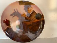 """Edward M. Knowles 8 Inch Decorative Plate Norman Rockwell's """"The Shadow Artist�"""