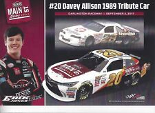 "2017 ERIK JONES / DAVEY ALLISON ""DARLINGTON THROWBACK"" TRIBUTE CAR POSTCARD"