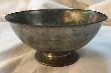 Antique Arts and Crafts Lester Howard Vaughan PEWTER FOOTED BOWL