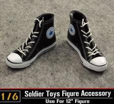 """ZY Toys Model 1:6 Scale Straps Black Canvas Dress Man Shoes Fit Male 12"""" Figure"""