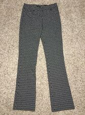 Express Columnist Pants Sz 00 Reg Inseam 33 Barely Boot Womens Black White NWT79