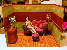 Sublimely Chic Chinoiserie - Asian Oriental Elegance  1:6 Handmade Diorama Rooms