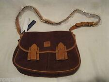 "Dooney & Bourke ""CHESTNUT"" Leather Saddle Bag Handbag w/Buckle Strap *BRAND NEW*"