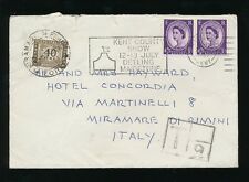 ITALY POSTAGE DUE 1967 from GB 3d WILDINGS + UNDERPAID