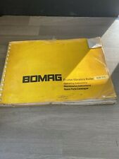 BOMAG BW65 DOUBLE DRUM VIBRATING ROLLER OPERATING MAINTENANCE SPARE PART MANUAL