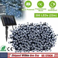 1 PACK LED String Lights, 72 Feet 200 Solar Copper Wire Starry Rope Fairy Lights