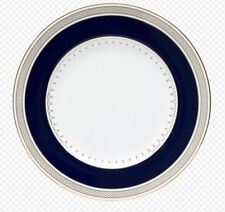 """Lattice Gold Nikko  gold and navy  Round Accent Plate 9"""""""