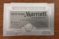 Une étiquette de champagne Louis Roederer Marriott Marquis New York