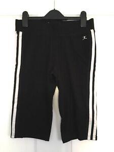 "Ladies Danskin 3 Stripe Shorts Leggings. Small. 26"" Waist. Yoga Pilates Gym"